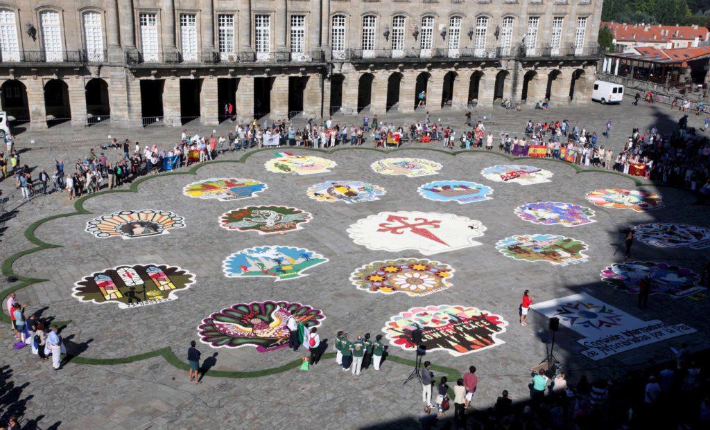 ava Castro, participará na celebración Alfombras no Camiño de Santiago, arte efémera para a paz do mundo